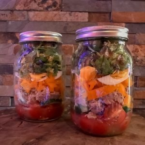 Lunchen zonder brood; Salad In A Jar