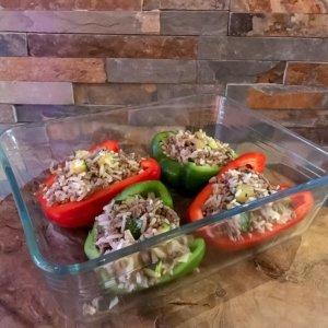 Eenvoudig, gezond & lekker; gevulde paprika uit de oven!