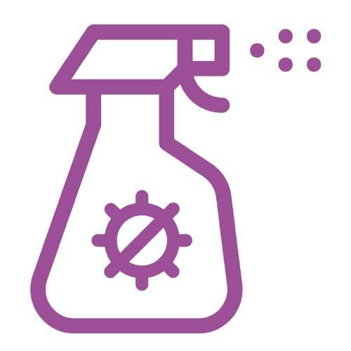 De desinfectant hoef je niet uit te wrijven